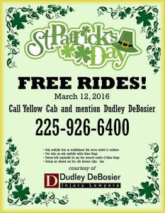 St. Patrick's Day Safe Ride Home Program