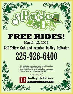 St. Patrick's Day Safe Ride Home Program