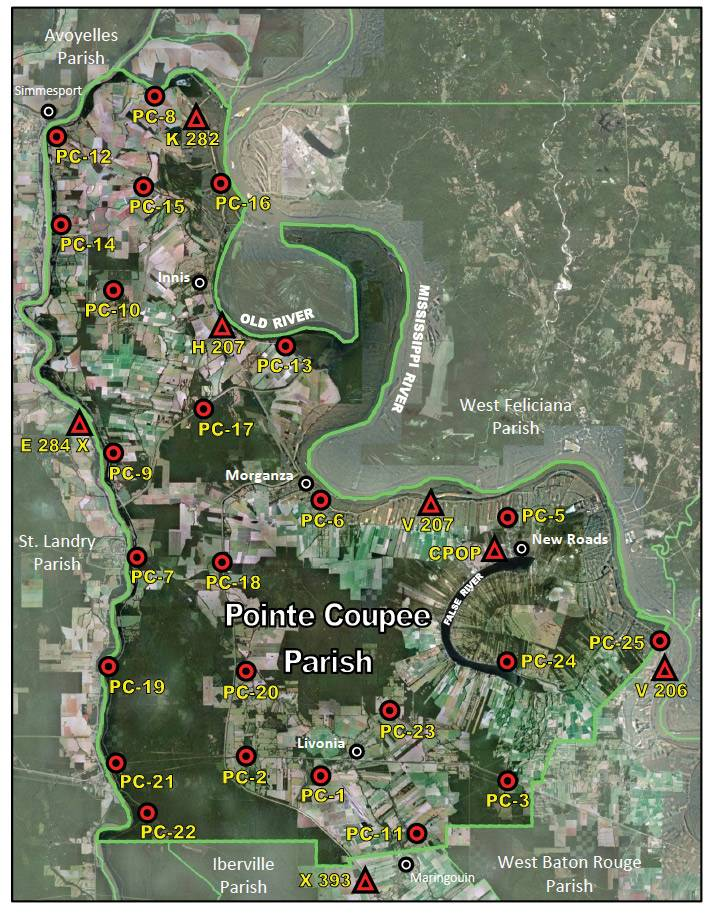 Pointe Coupee Benchmarks
