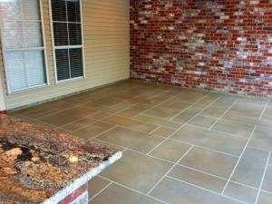 Random Tile Patio