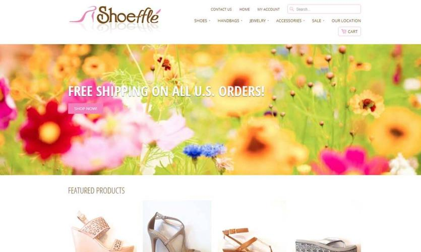 shoeffle Website Home