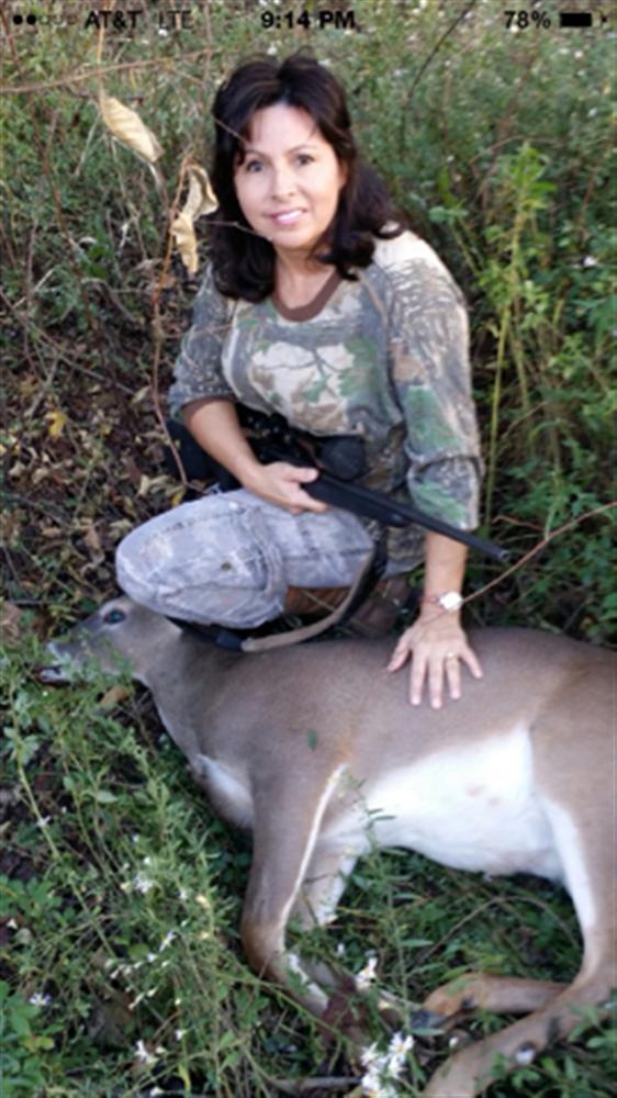 Debbie Hebert 1st deer ever! Congrats